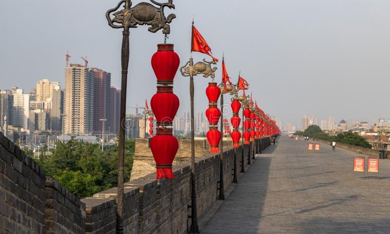 Xi ', China - parede de 05142019 cidades foto de stock