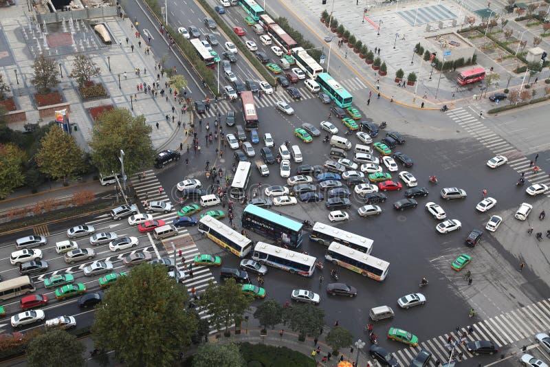 Xi'an, atasco, tráfico imagenes de archivo