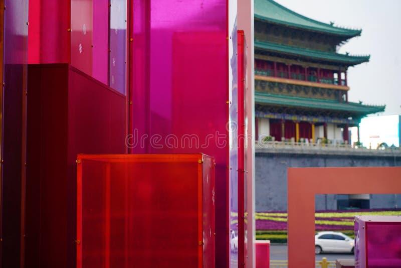 Xi`an Bell Tower royalty free stock photos