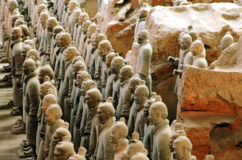 Xi'an, China: De Strijders van het terracotta royalty-vrije stock foto's