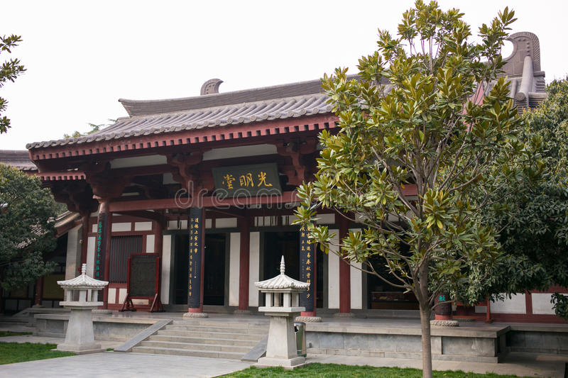 Xi`an Chinese Ci`en Temple inside the building我,的 royalty free stock image