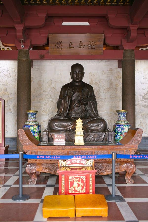 XI. ` Chiny Ci ` en świątynia wśrodku Buddha fotografia stock
