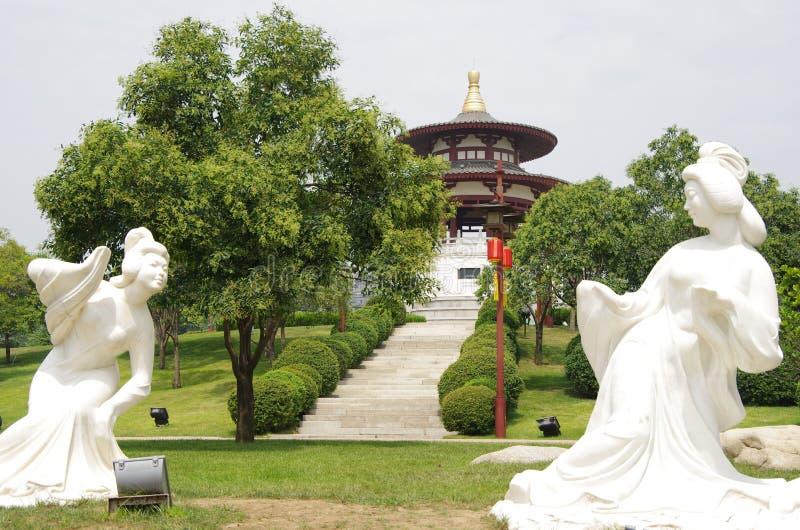 Xi'an-datang furong Garten in China lizenzfreies stockfoto