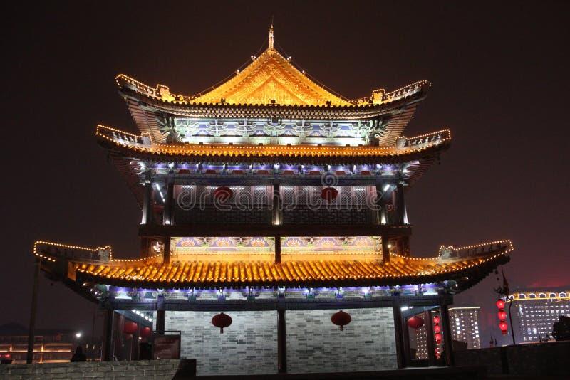 XI en vägg för forntida stad - Kina royaltyfri fotografi