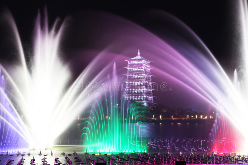 XI. 'expo ogród, changan wierza obraz royalty free