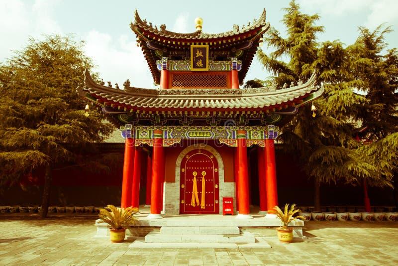 XI ` Guangren寺庙古老中国建筑学鼓楼 库存照片