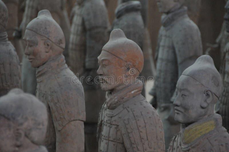 Xi& x27 ; guerriers d'une armée de terre cuite photos libres de droits