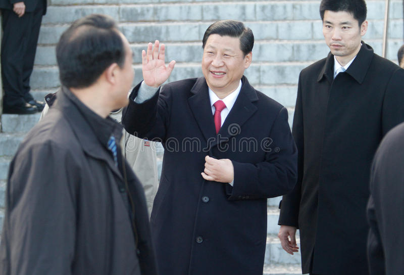 Xi Jinping. China prime minister xi Jinping seen during a visit to the island of Majorca, Spain stock photo