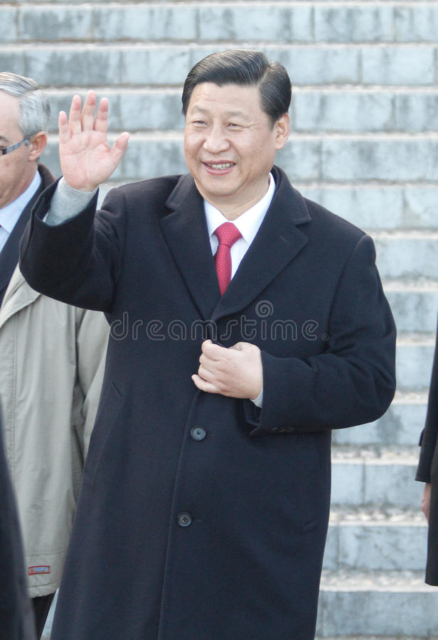 Xi Jinping 024. China prime minister xi Jinping seen during a visit to the island of Mallorca, Spain stock image