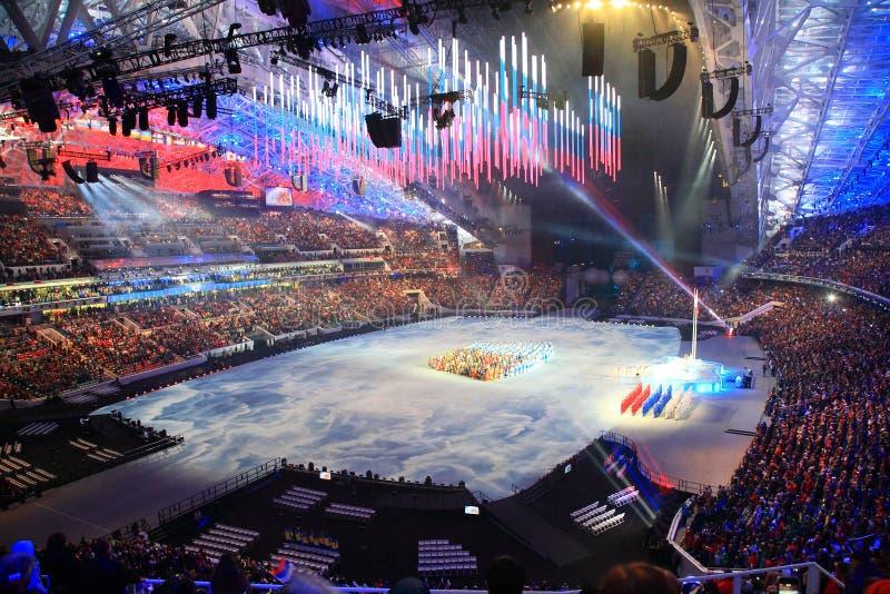 XI Paralympic-de Winterspelen in Sotchi stock foto