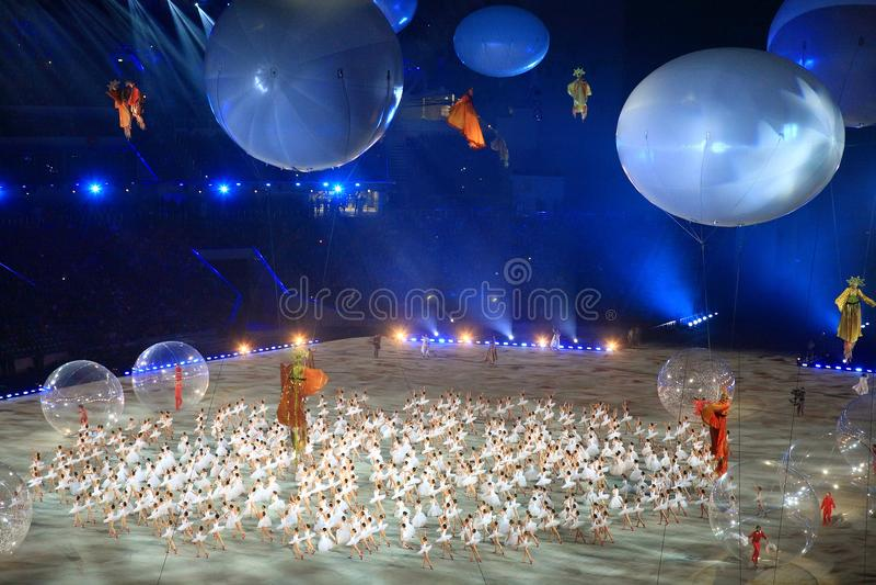 XI Paralympic-de Winterspelen in Sotchi stock afbeeldingen