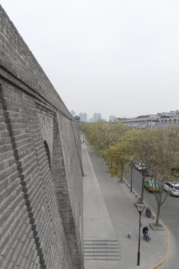 Exterior view of the Xi`an City Walls - Imagen royalty free stock images