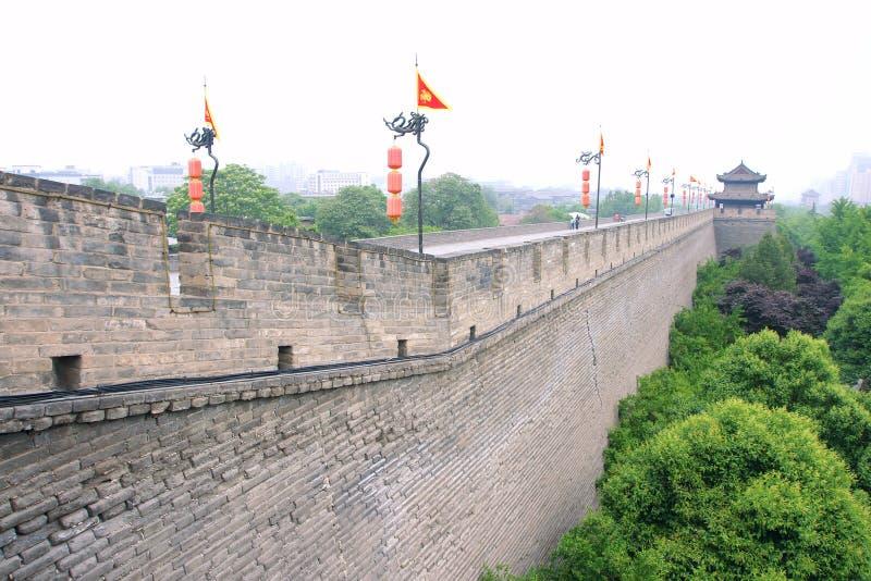 Xi'an-Stadtmauer lizenzfreie stockbilder