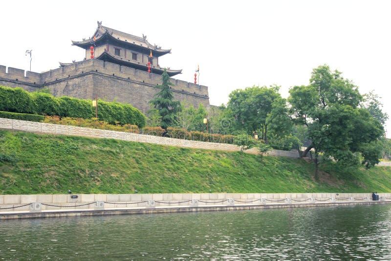 Xi'an-Stadtmauer stockfotografie