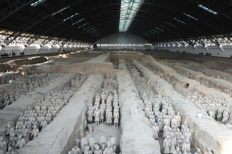 Xi `an, the Terra Cotta Warriors royalty free stock photography