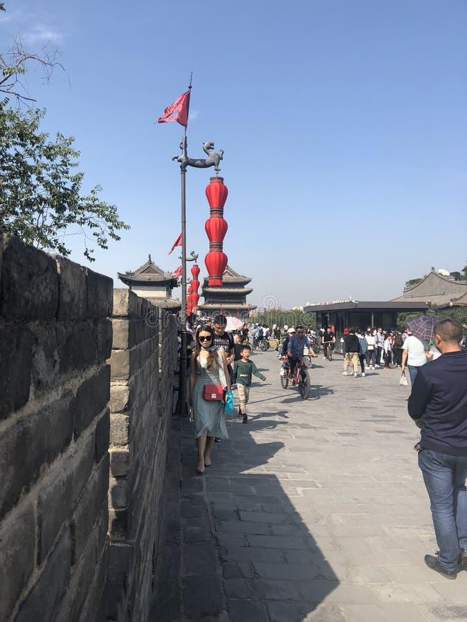 ` XI un mur de ville images stock