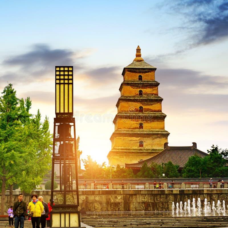 Xi`an Wild Goose Pagoda royalty free stock images
