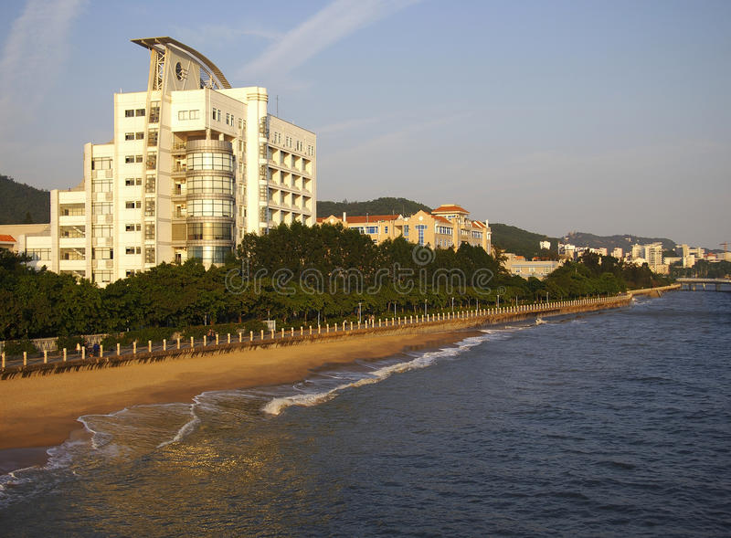 Xiamen,China,Beach. Xiamen is a beautiful coastal city in China Fujian province stock image