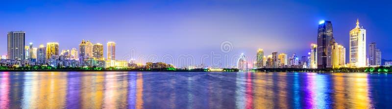 Xiamen, China City Skyline. Xiamen, China skyline of Amoy Island stock photo