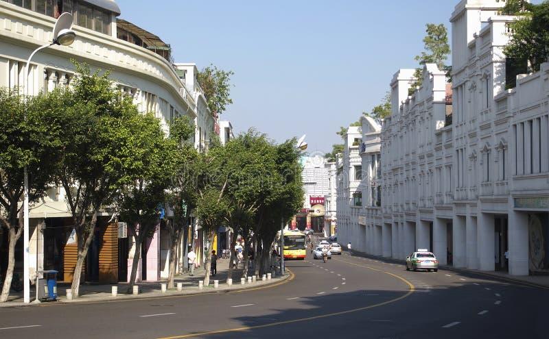 Xiamen Commerciële Straat, China, stock foto