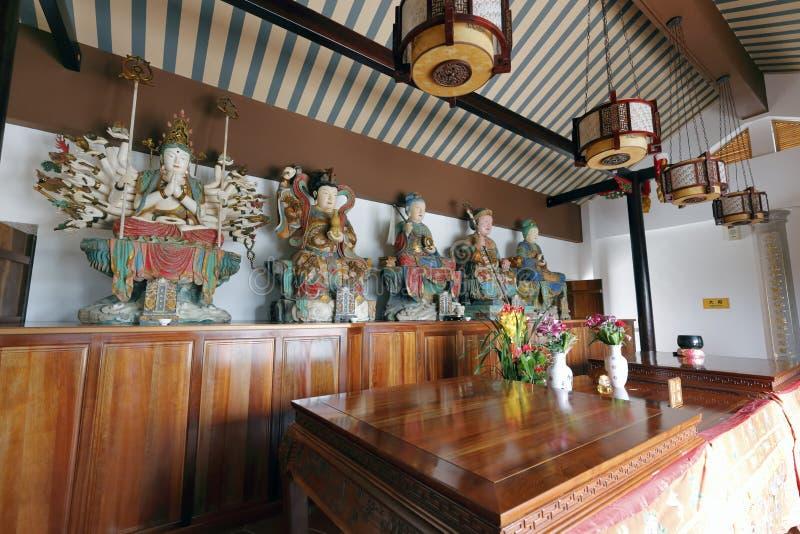 Xiamen de taoïsme sanguan (ambtenaar drie) tempel van stad, China royalty-vrije stock afbeeldingen