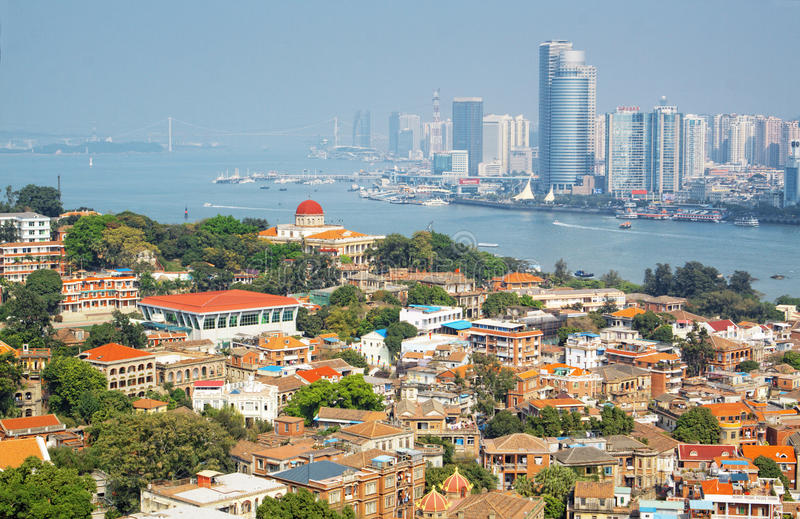 Xiamen Gulangyu island. The scenery of Xiamen Gulangyu island stock photography