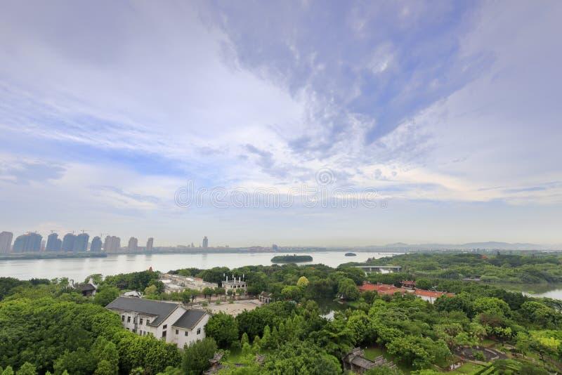 Xiamen international garden expo garden. Overlooking the yuanboyuan park, xiamen city, china. the garden has nine islands, 16 bridges. the total area is 10.82 royalty free stock photography