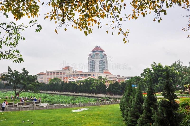 Xiamen-Universitätsgelände lizenzfreie stockbilder