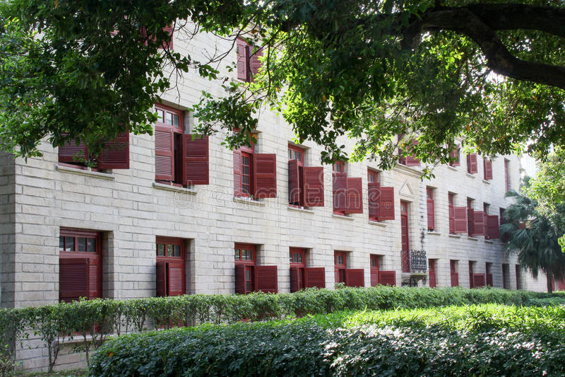 Xiamen Universitaire campus in zuidoostenchina royalty-vrije stock foto