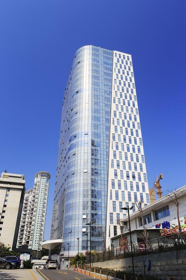 Xiamen-Wolkenkratzer stockbilder