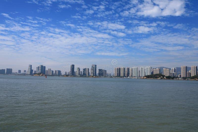 Xiamenstad en de haven royalty-vrije stock afbeelding