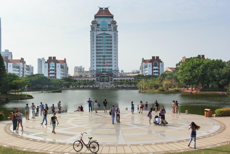 Xiamenuniversiteit, China stock afbeelding