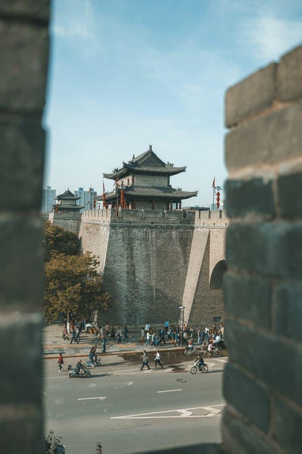 Xian Ancient City Wall fotos de archivo libres de regalías