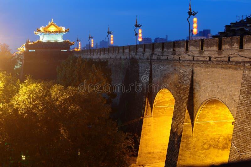 Xian, China. The famous ancient city wall of Xian, China stock image