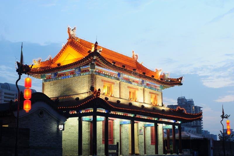 Xian, China. The famous ancient city wall of Xian, China stock photos