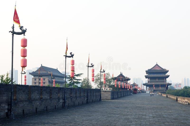 Xian, China. The famous ancient city wall of Xian, China royalty free stock image