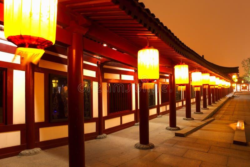 Xian,China. Night scenes of Tang Paradise in Xi'an(Xian),China stock photos