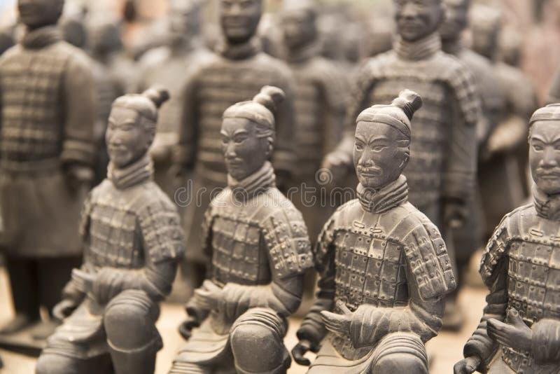 Xian, China. Beauriful view on the terracotta army in Xian, China stock photo