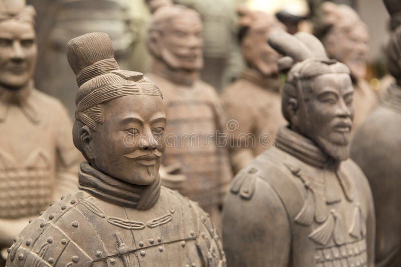 Xian, China. Beauriful view on the terracotta army in Xian, China royalty free stock photo