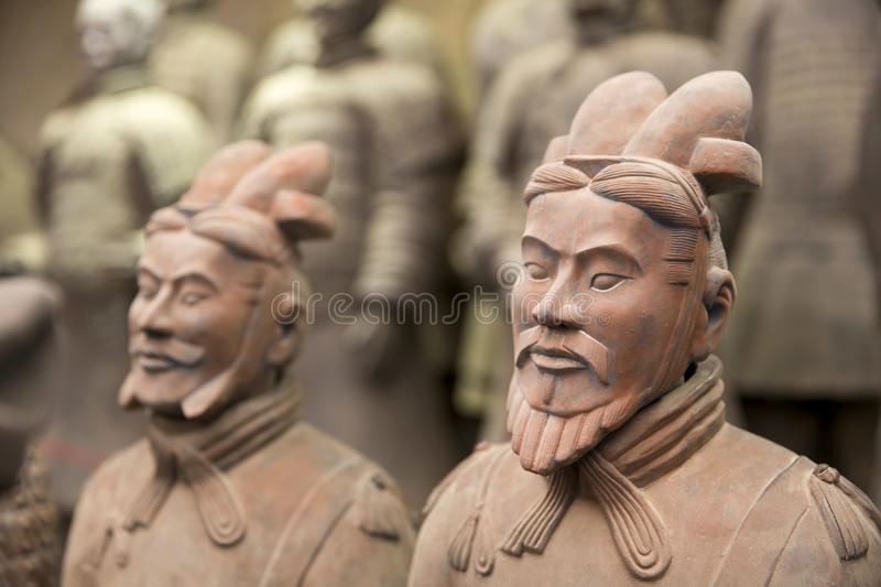 Xian, China. Beauriful view on the terracotta army in Xian, China stock images