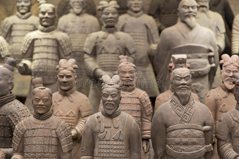 Xian, China. Beauriful view on the terracotta army in Xian, China royalty free stock photos