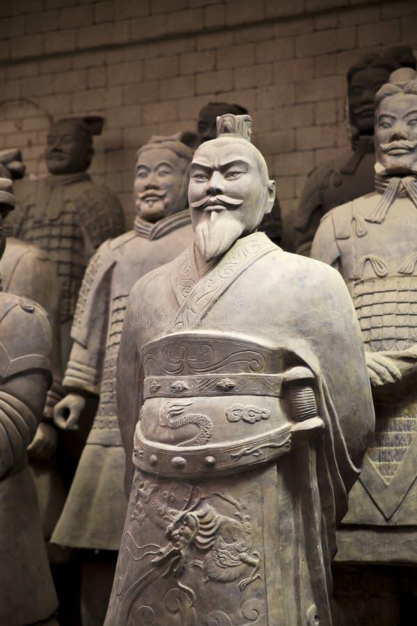 Xian, China. Beauriful view on the terracotta army in Xian, China stock photography