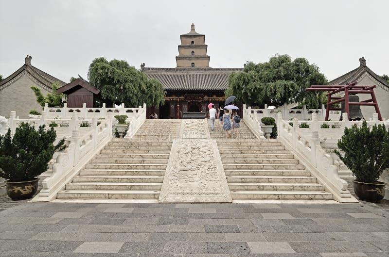 Xian China-Big Wild Goose Pagoda imagens de stock