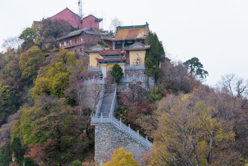 XIAN, CHINA - 11 DE NOVEMBRO DE 2014: Montagem sul Wutai (Nanwutai) um famoso imagem de stock
