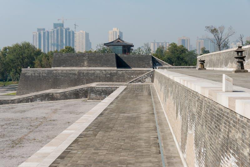 XIAN, CHINA - 24 DE OUTUBRO DE 2014: DaMing Palace National Heritage Park ( imagens de stock royalty free