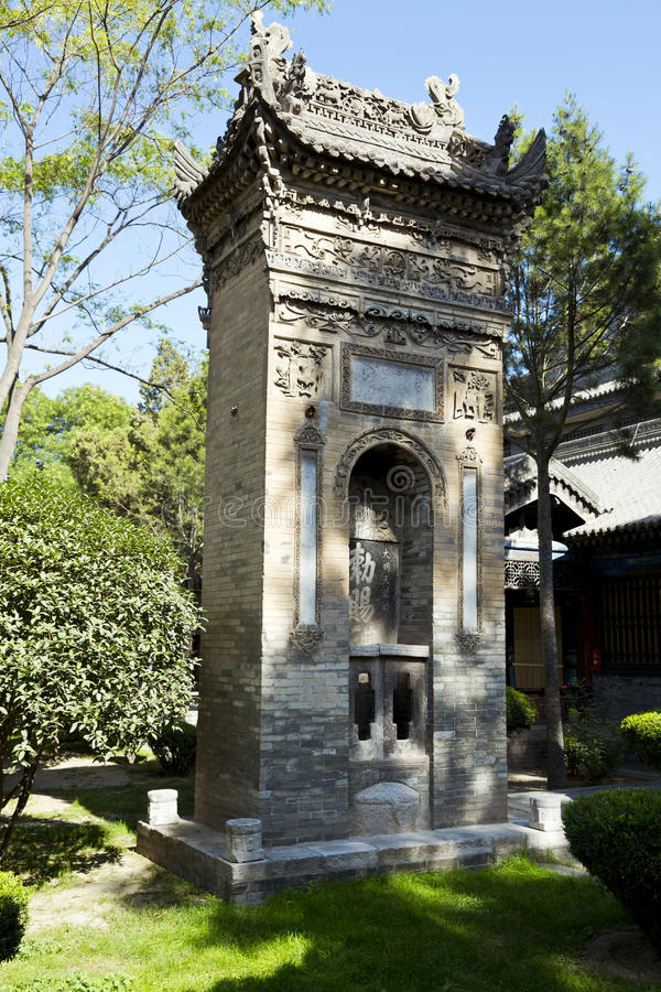 Xian, China. Detail of old mosque in Xian, China royalty free stock photography
