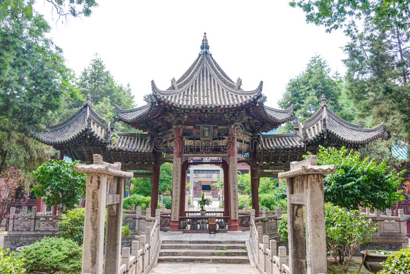XIAN, CHINA - Jun 22 2014: Great Mosque. The Mosque, is a blend. Of traditional Chinese and Islamic architecture stock photo