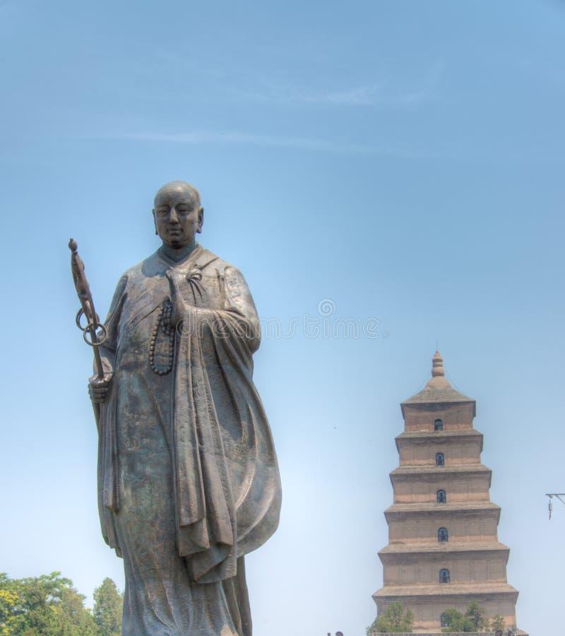XIAN, CHINA - Jun 23 2014: Reuze Wilde Ganspagode Dit is Worl royalty-vrije stock foto