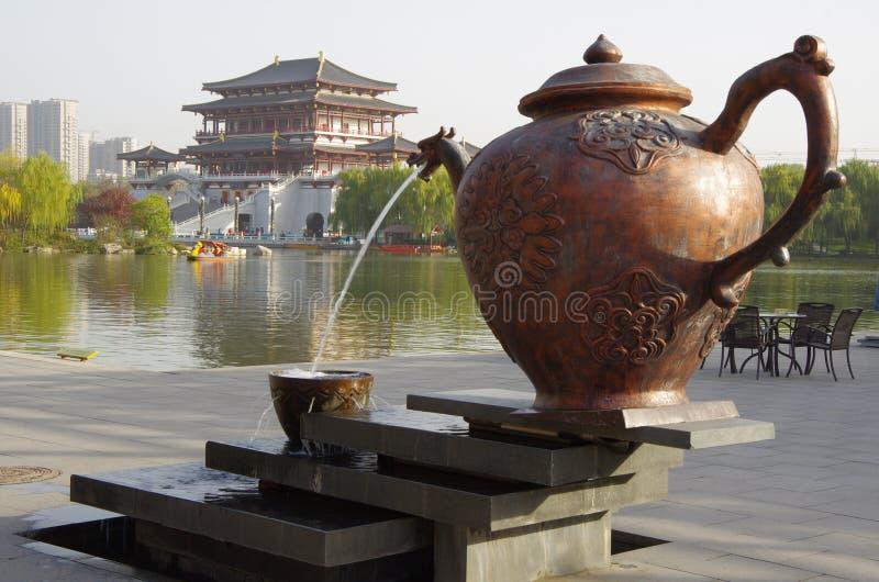 Xian,China. Night scenes of Tang Paradise in Xi'an(Xian),China royalty free stock images