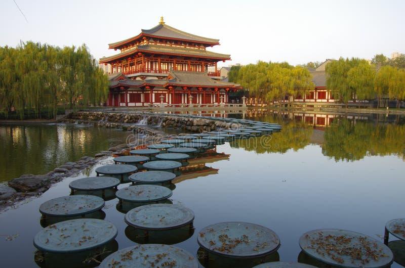 Xian,China. Night scenes of Tang Paradise in Xi'an(Xian),China royalty free stock photography